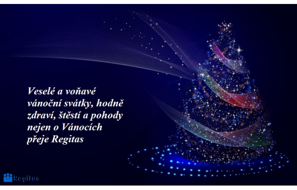 Veselé a voňavé vánoční svátky, hodně zdraví, štěstí a pohody nejen o Vánocích přeje Regitas