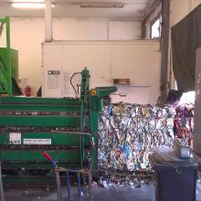 Prostory třídírny plastových obalů