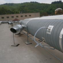 Napojení perf. trubic do potrubí odvádějícího vzdušinu z 1. lakovací linky