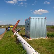 Výduch a kontejner s umístěným zařízením Smellmeister