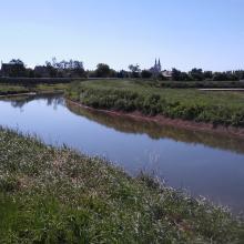 Část odpadní laguny