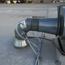 Napojení perforovaných trubic do potrubí 6. výduchu